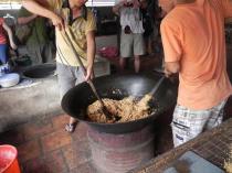 Cuisson du riz soufflé